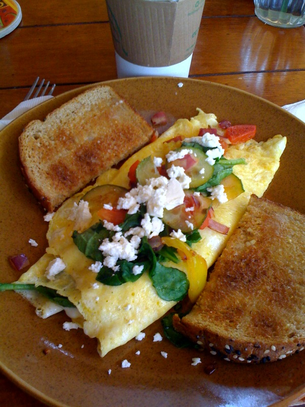 Photo of vegetarian omelet