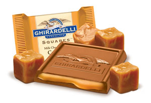 Photo of Ghiradelli's Chocolate Squares with Caramel Filling