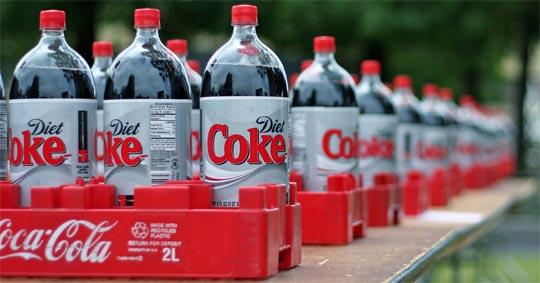 bottles of Diet Coke