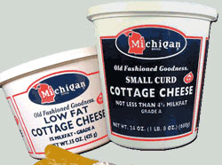 Michigan Brand Cottage Cheese package